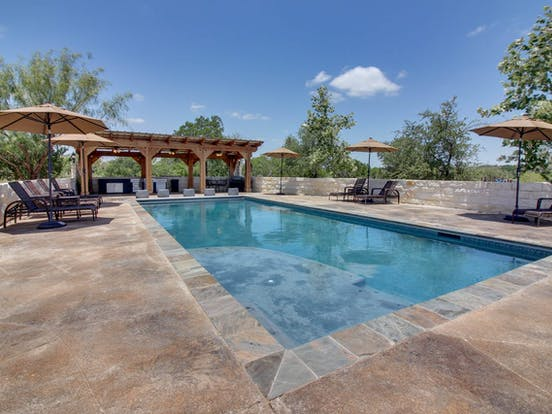 Outdoor pool in Texas Hill Country