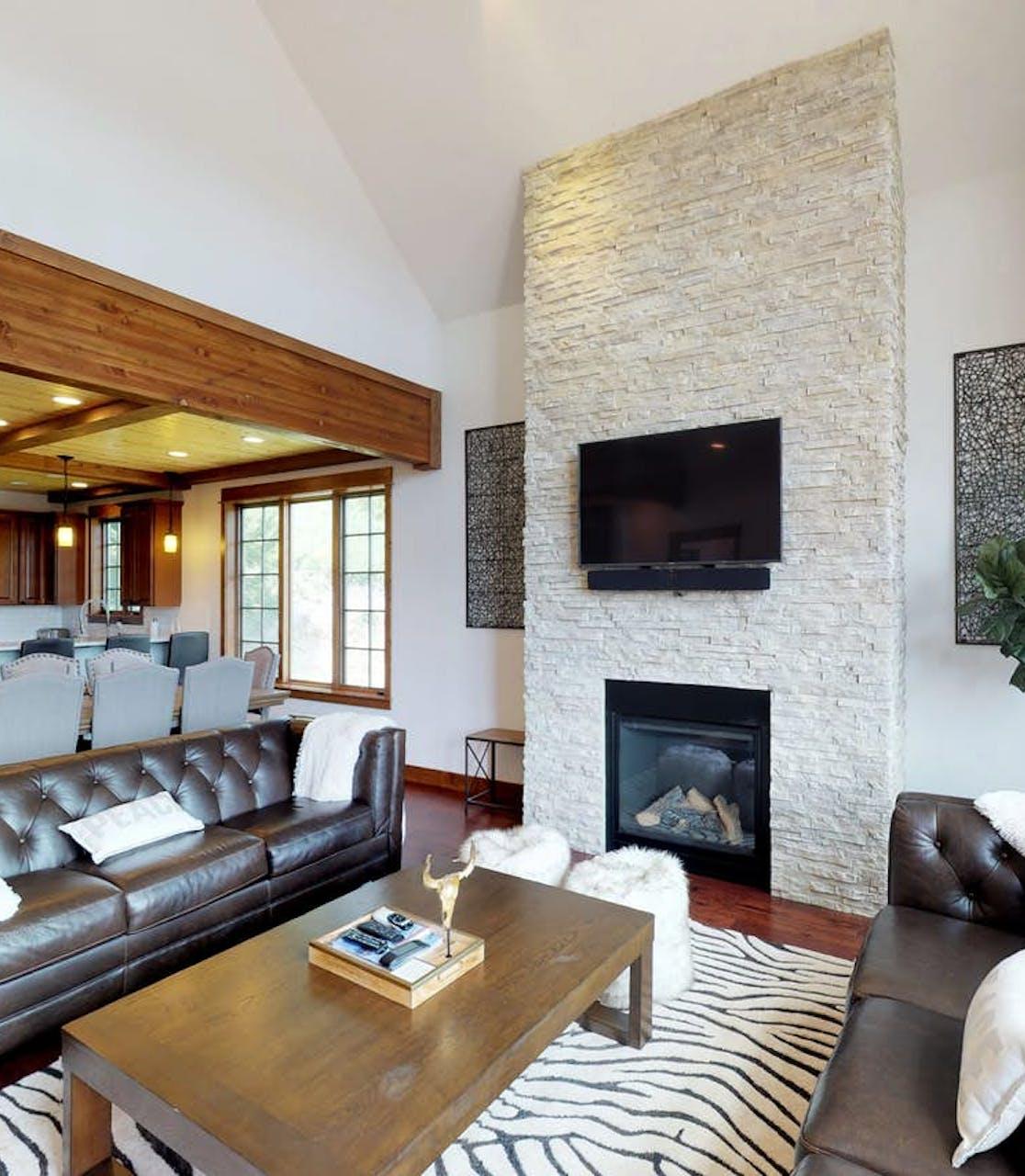 open living room of Big Sky, MT vacation rental