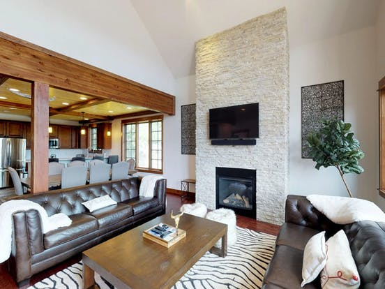 open living room of Big Sky, MT vacation rental