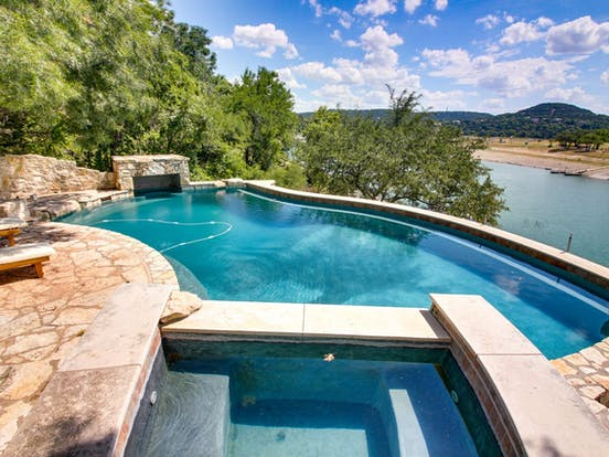 outdoor pool and hot tub in Leander, TX vacation rental