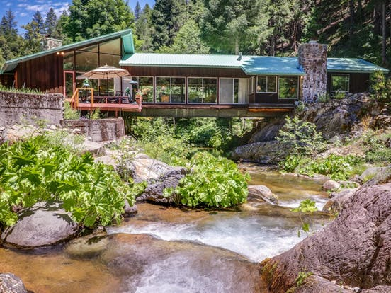 vacation home over river in Northern California