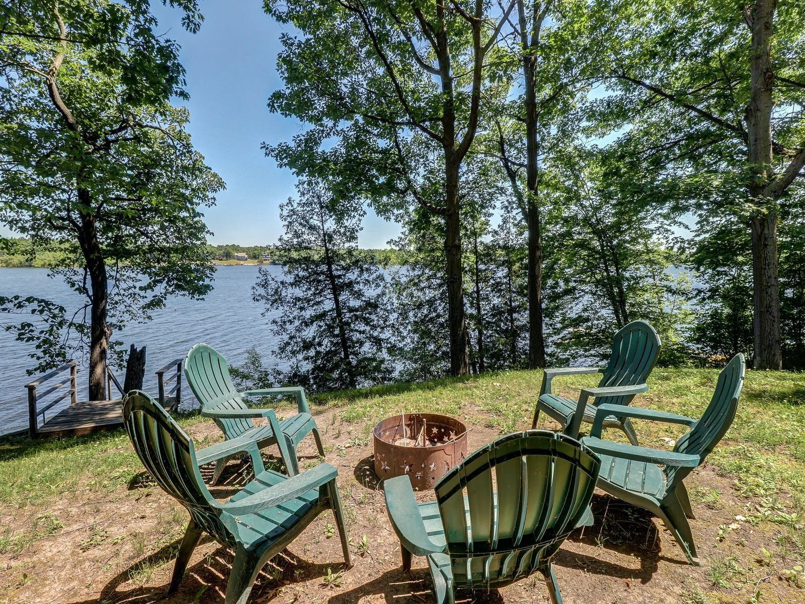 Fire pit outside of North Hero, VT vacation rental