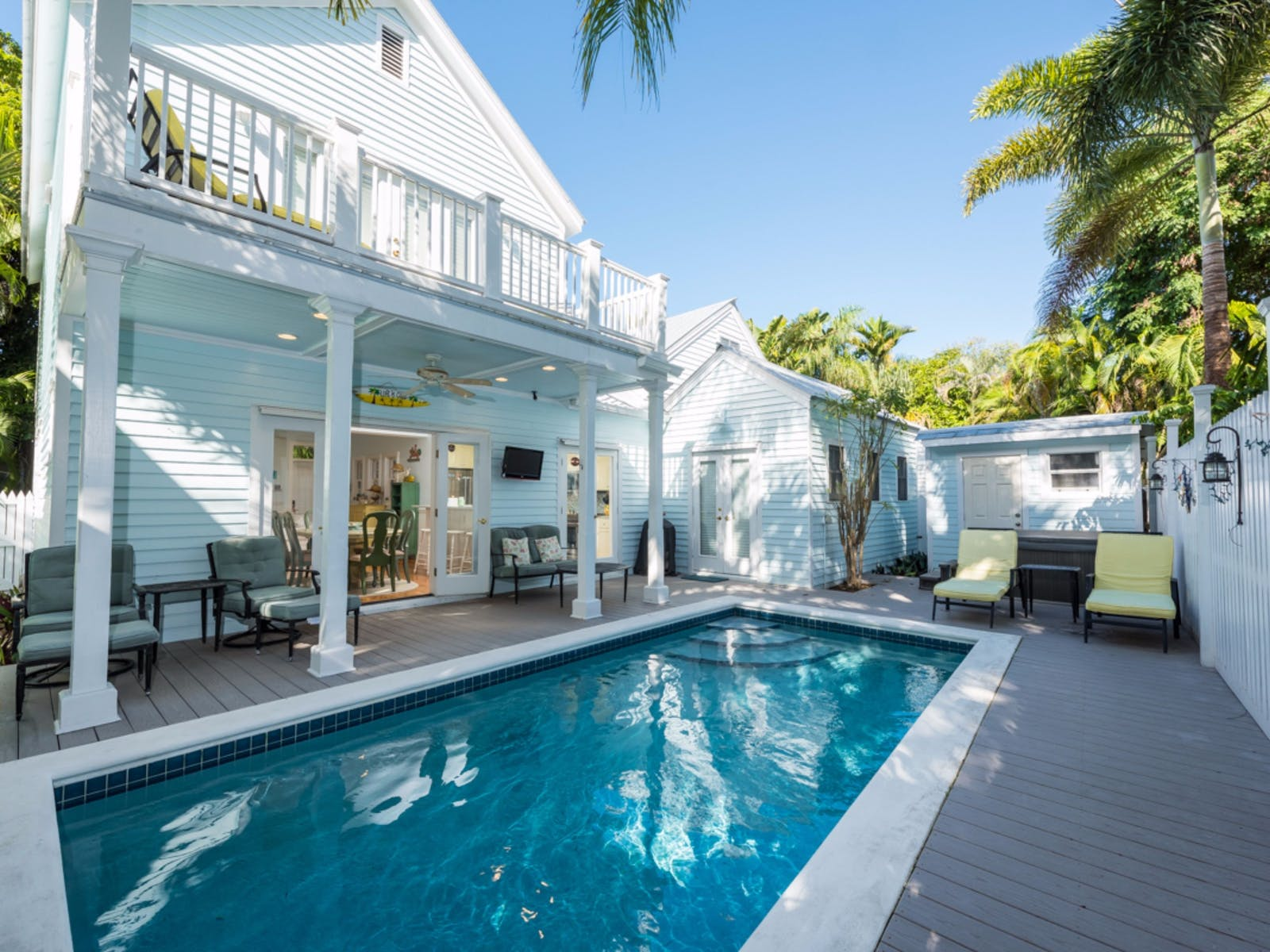 two-story home with outdoor pool in key west, fl
