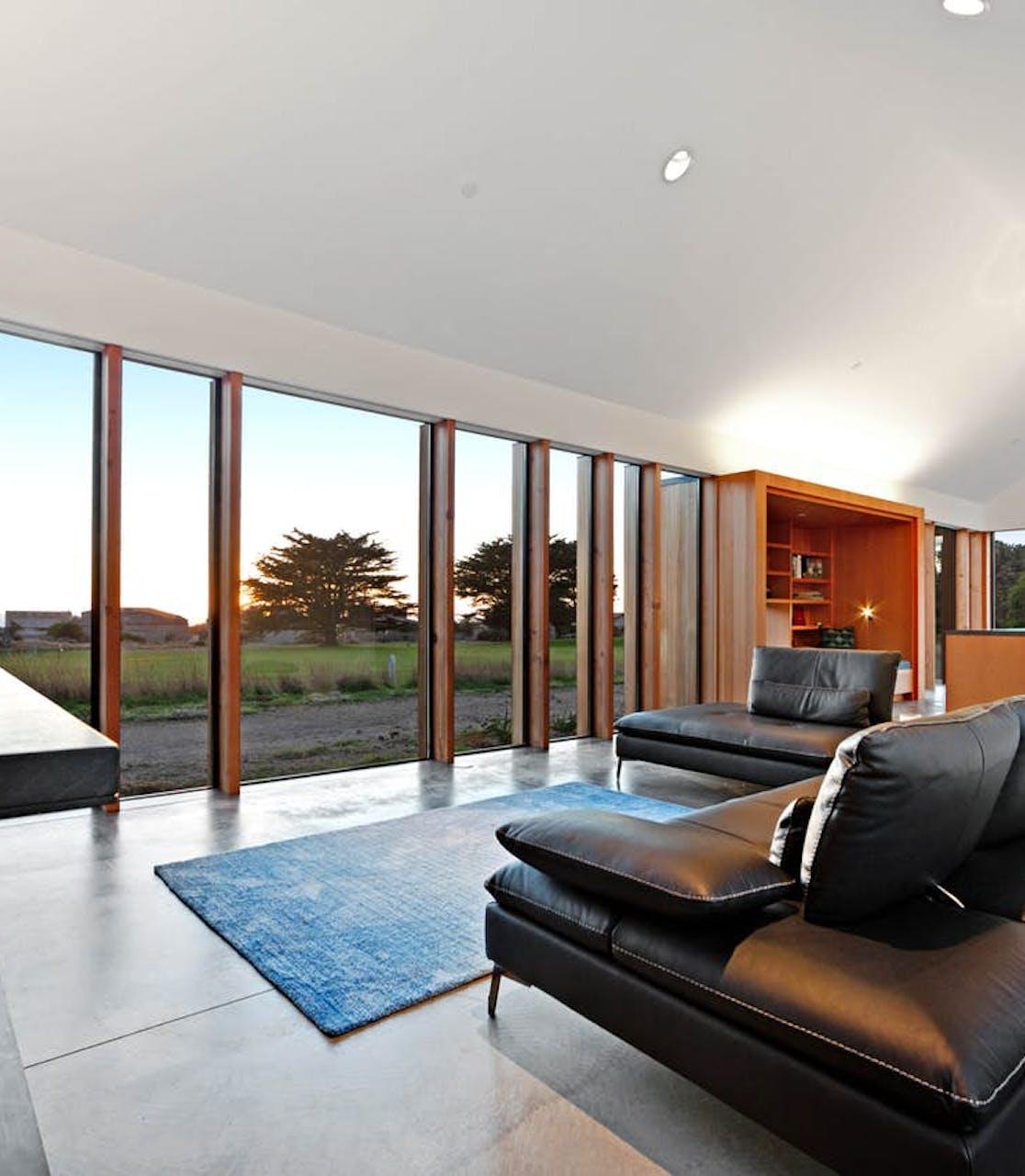 Vacation rental living area in Sea Ranch, CA
