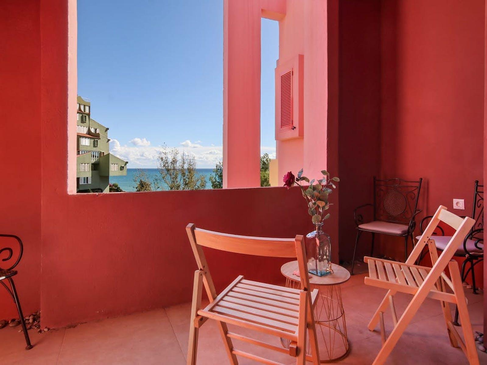 pink oceanfront vacation villa along southeastern Spain's Costa Blanca