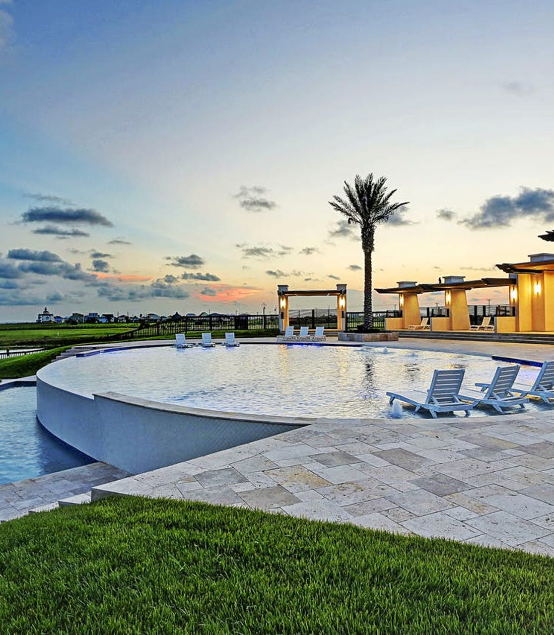 view of outdoor pool in Crystal Beach, TX vacation rental