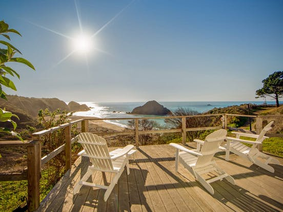 beachfront vacation rental in Northern California