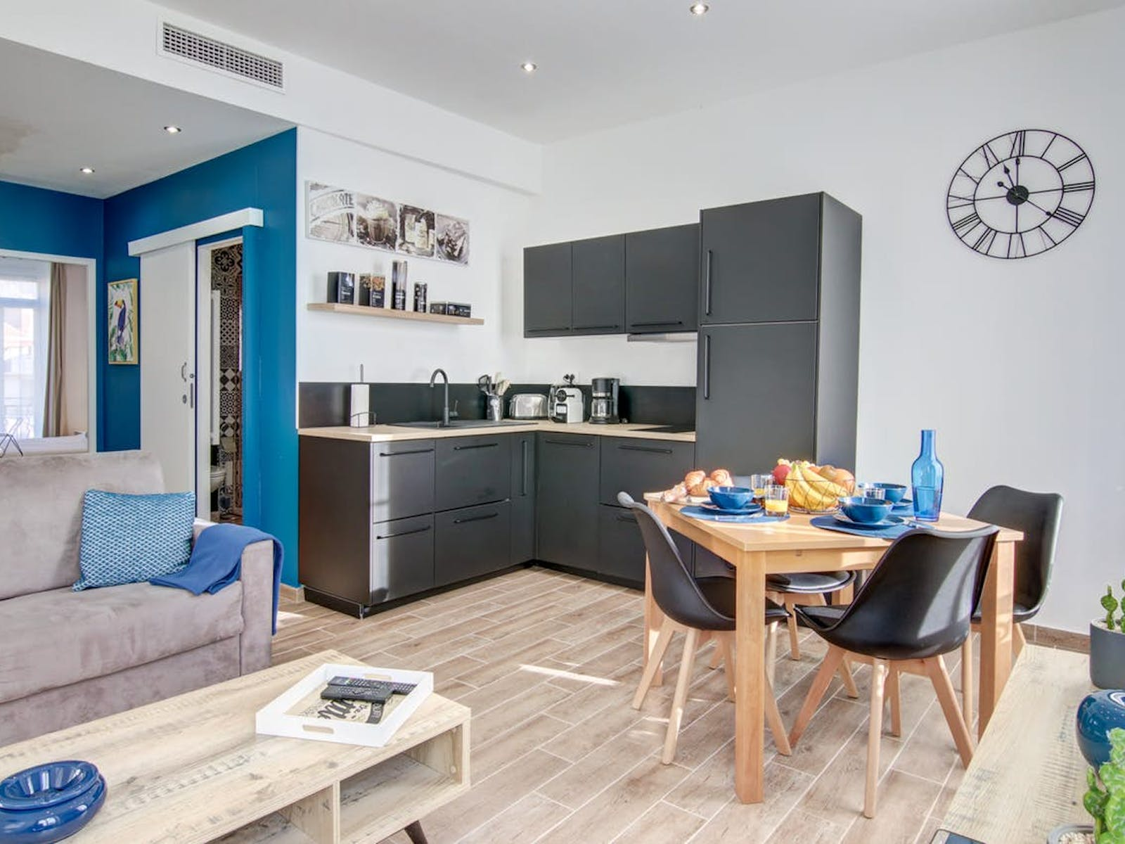 interior of vacation rental located in Cannes, France