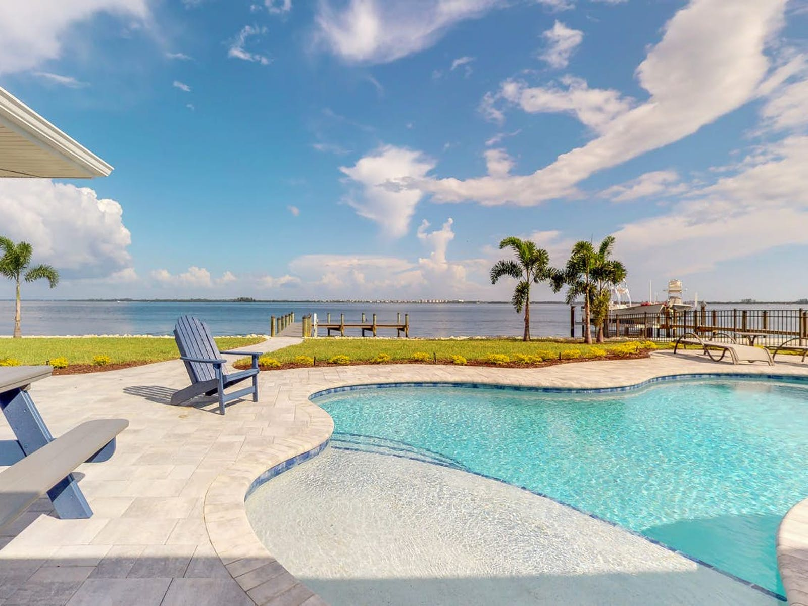 Holmes Beach vacation rental with dock and outdoor pool