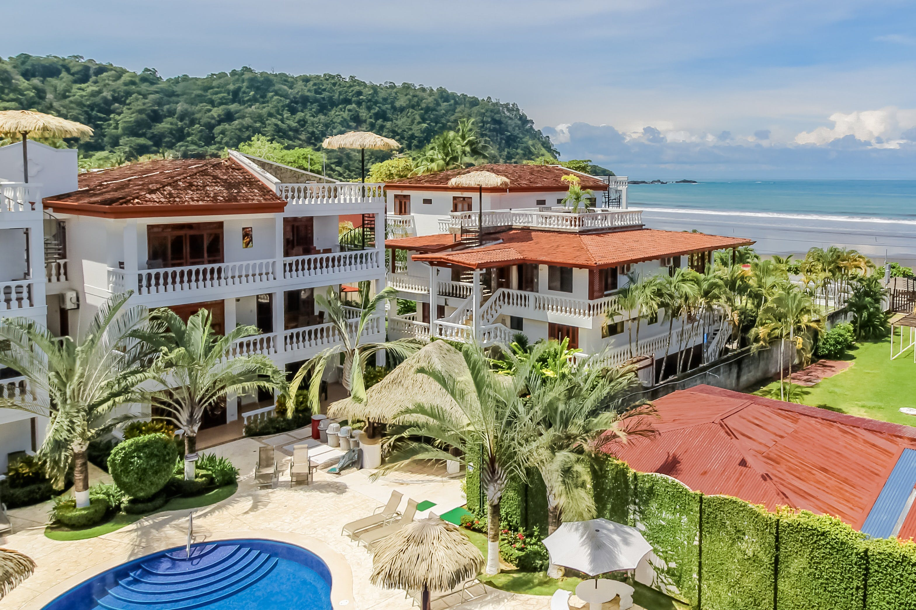 a luxury resort right on the beach in Jacó, Costa Rica
