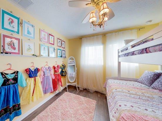 Bedroom with Disney-theme decor in Davenport, FL