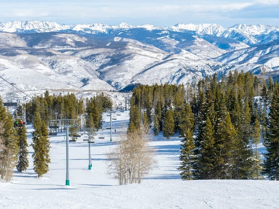 Beaver Creek, CO ski lift over the mountains