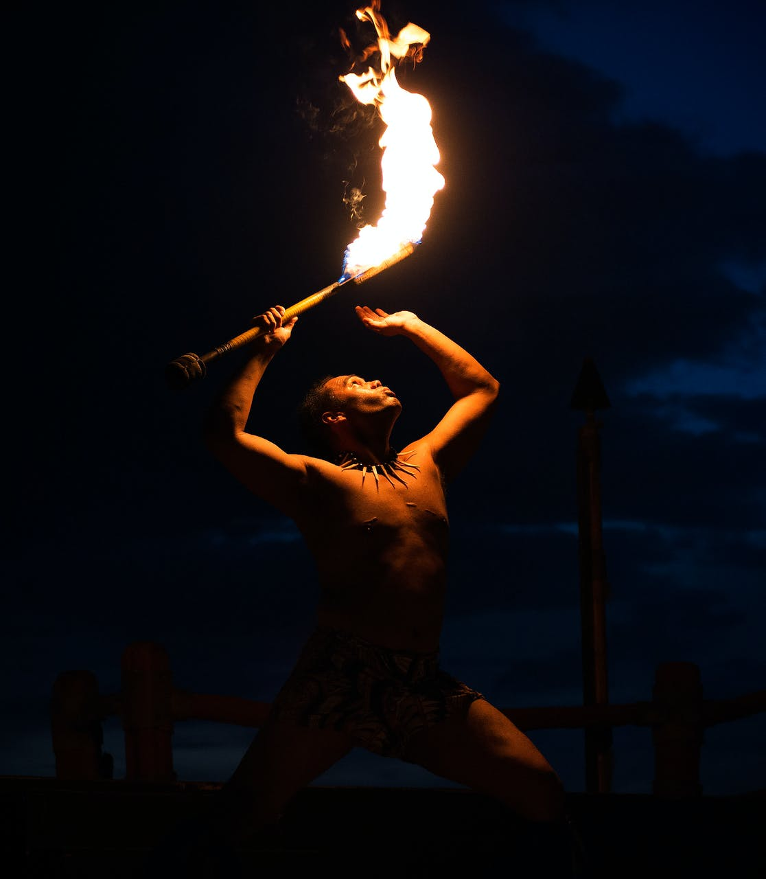 Fire Dance - Maui. Image courtesy of Kent Buckingham