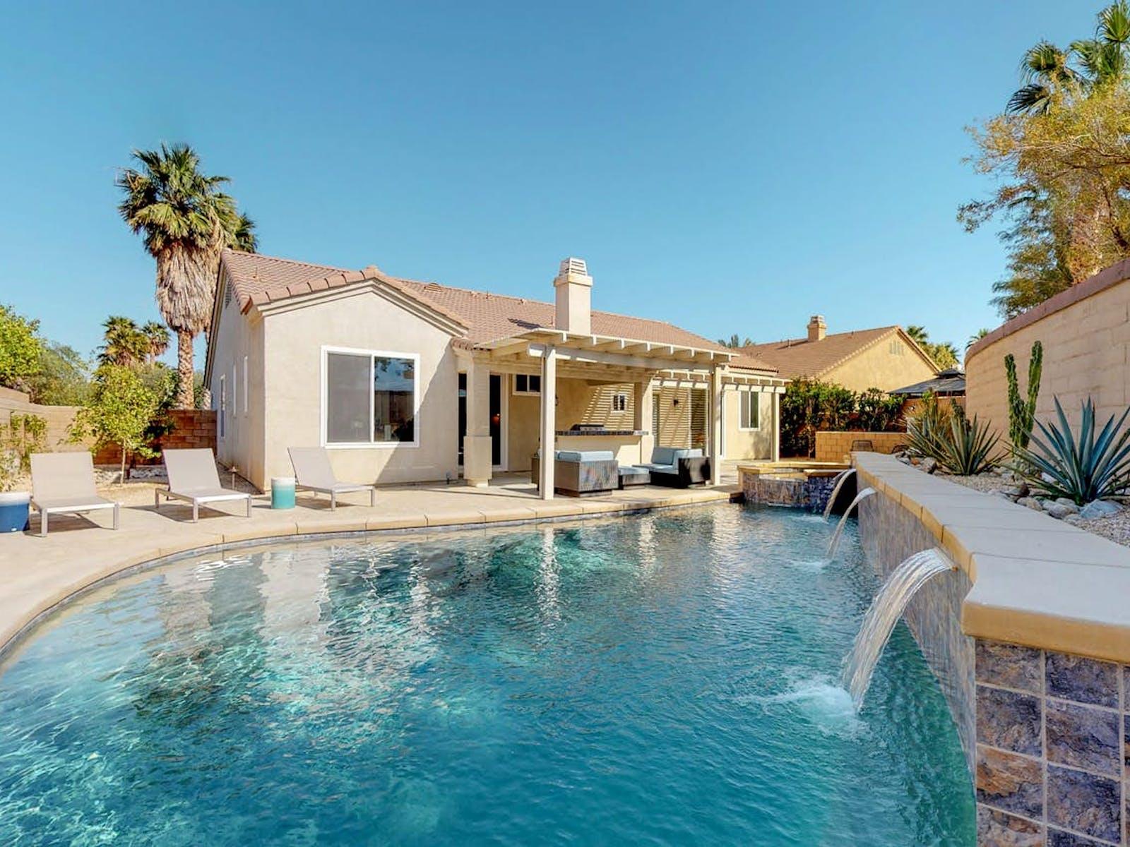 Outdoor pool in Palm Springs, CA