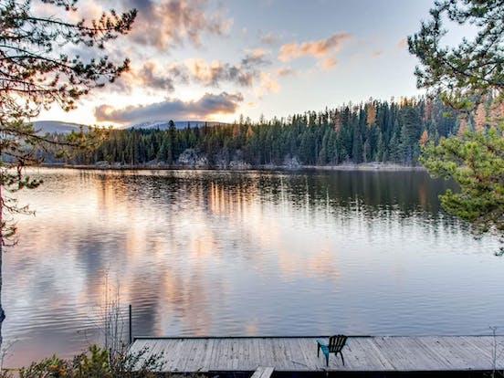 Idabel Lake in BC at sunset