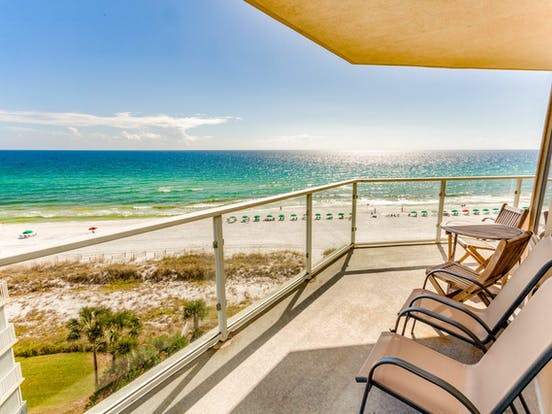 Oceanfront balcony of Destin, FL condo