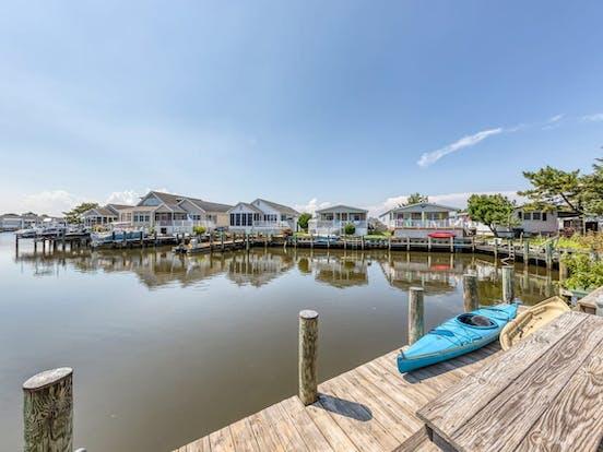 Dock with kayak located in Ocean City
