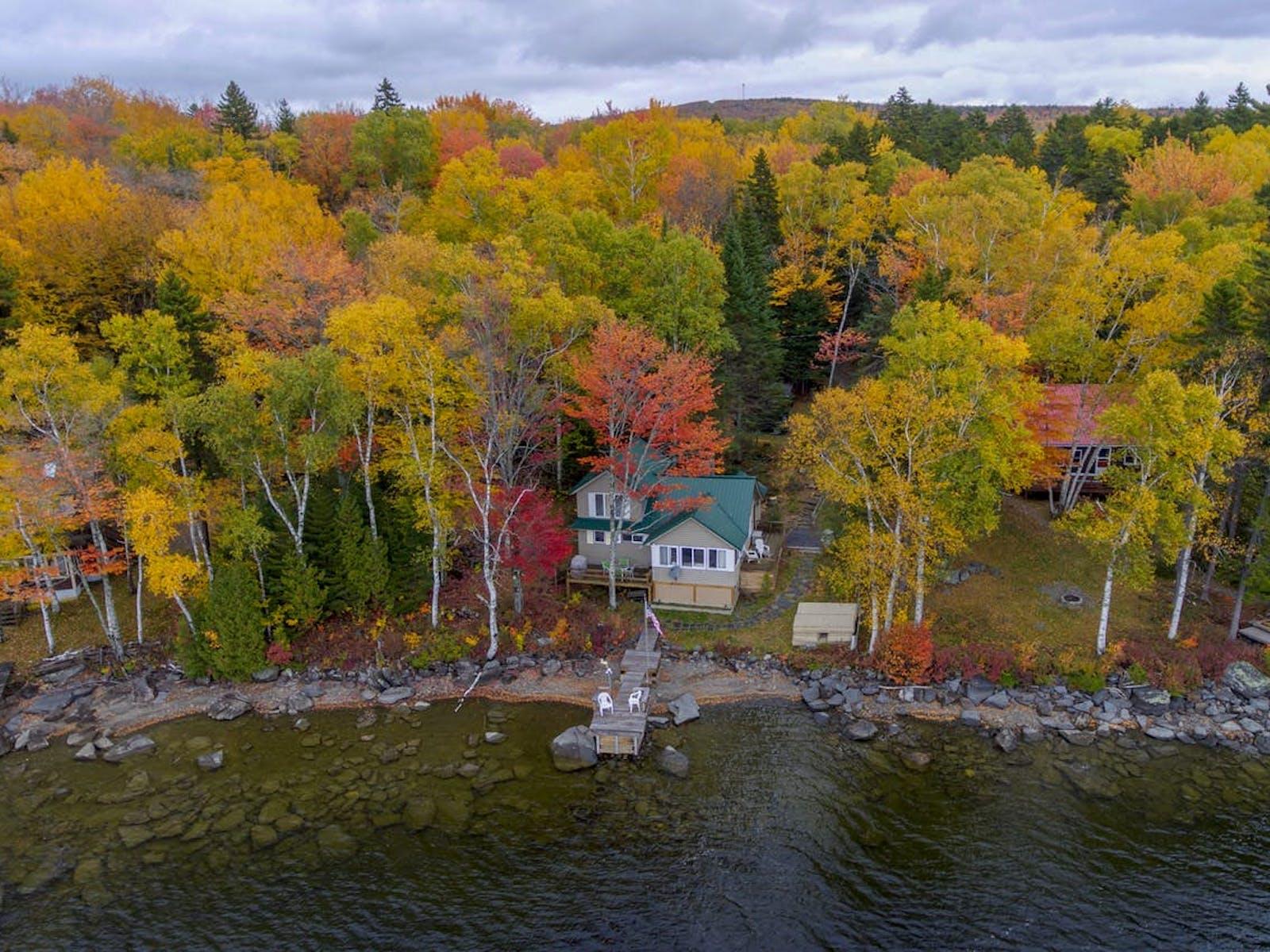 lake cabin on moosehead lake, maine
