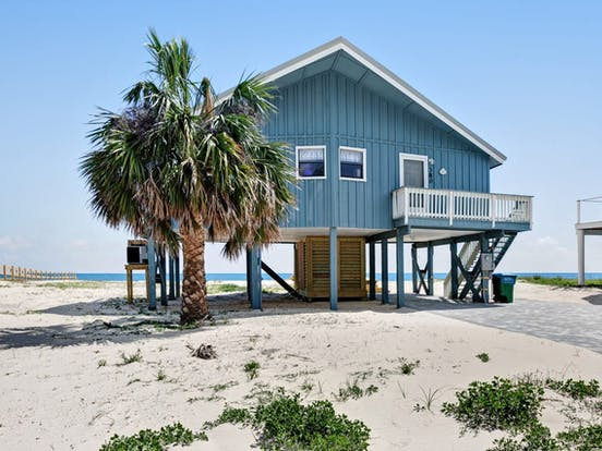 mexico beach, fl beachfront house rental
