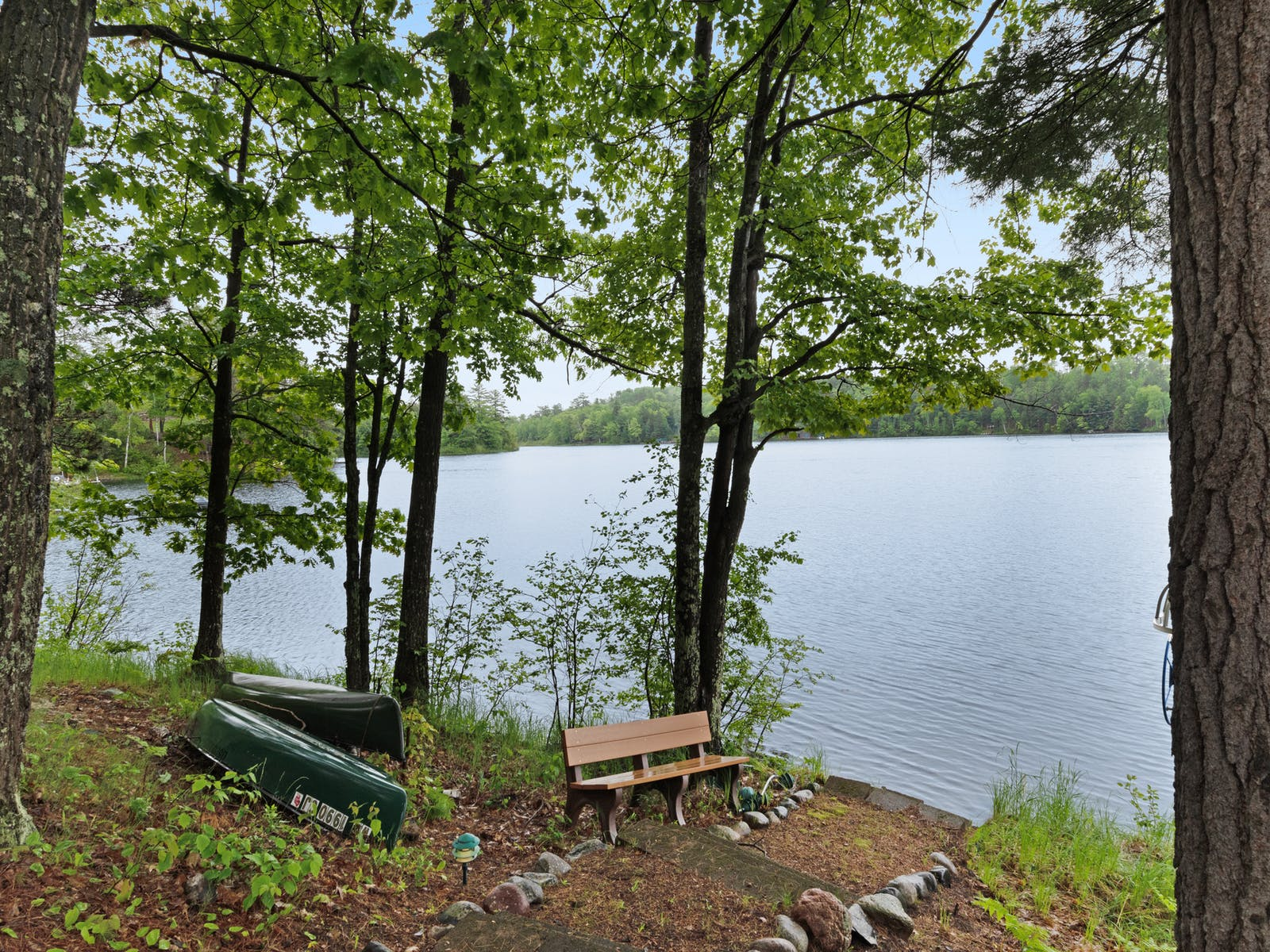 view of water from minocqua, wi vacation rental