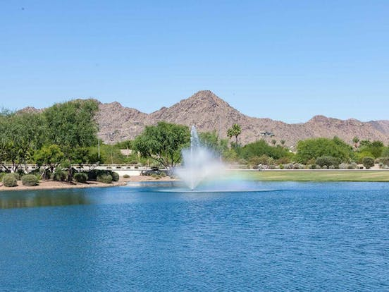 Golf course pond located in Glendale, AZ