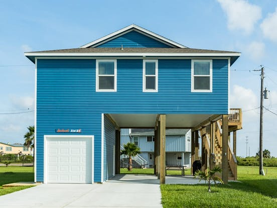 Blue Galveston, TX beach house vacation rental