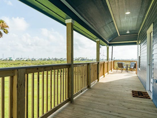 Galveston, TX beach vacation rental porch