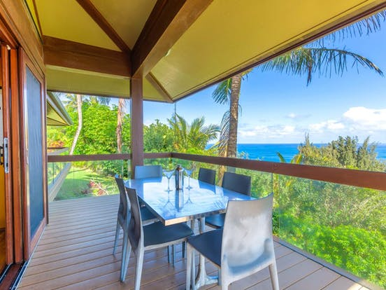 Vacation rental balcony in Princeville