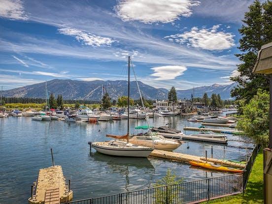 Tahoe Keys waterfront vacation rental with dock