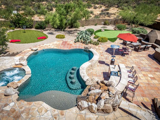 private pool and hot tub of scottsdale, az vacation rental