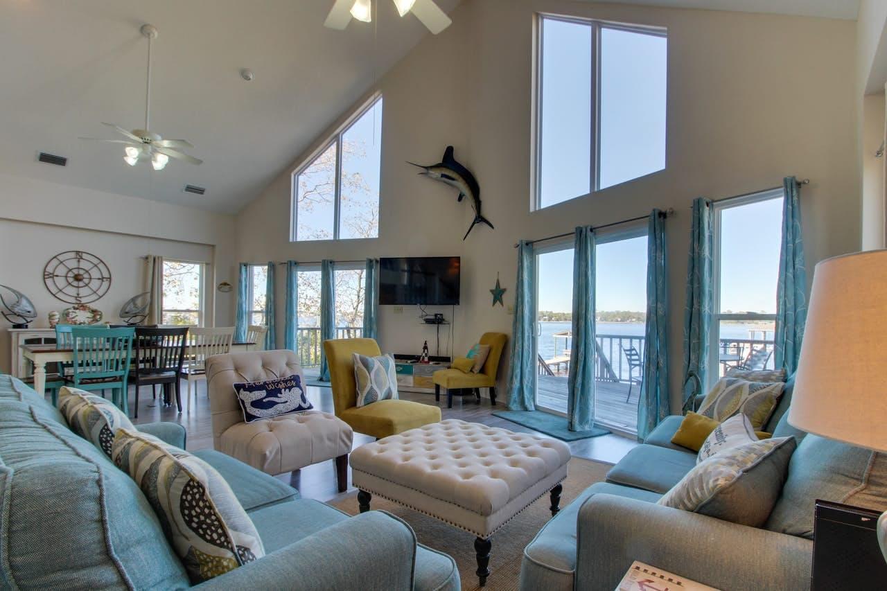 living room of gulf shores, al vacation rental