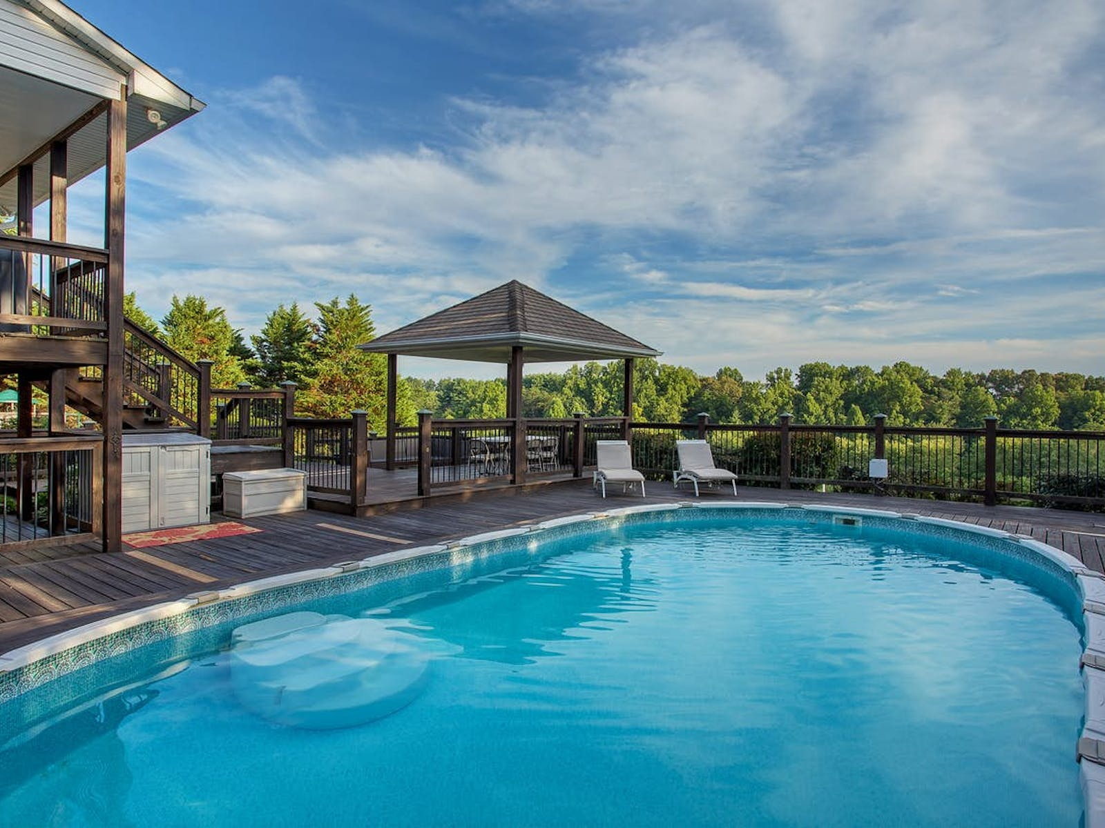 Cookeville Estate vacation rental with outdoor pool and patio seating
