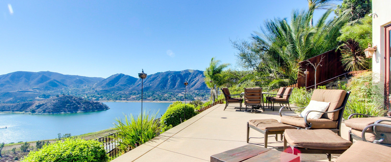 Vacation rental patio in California