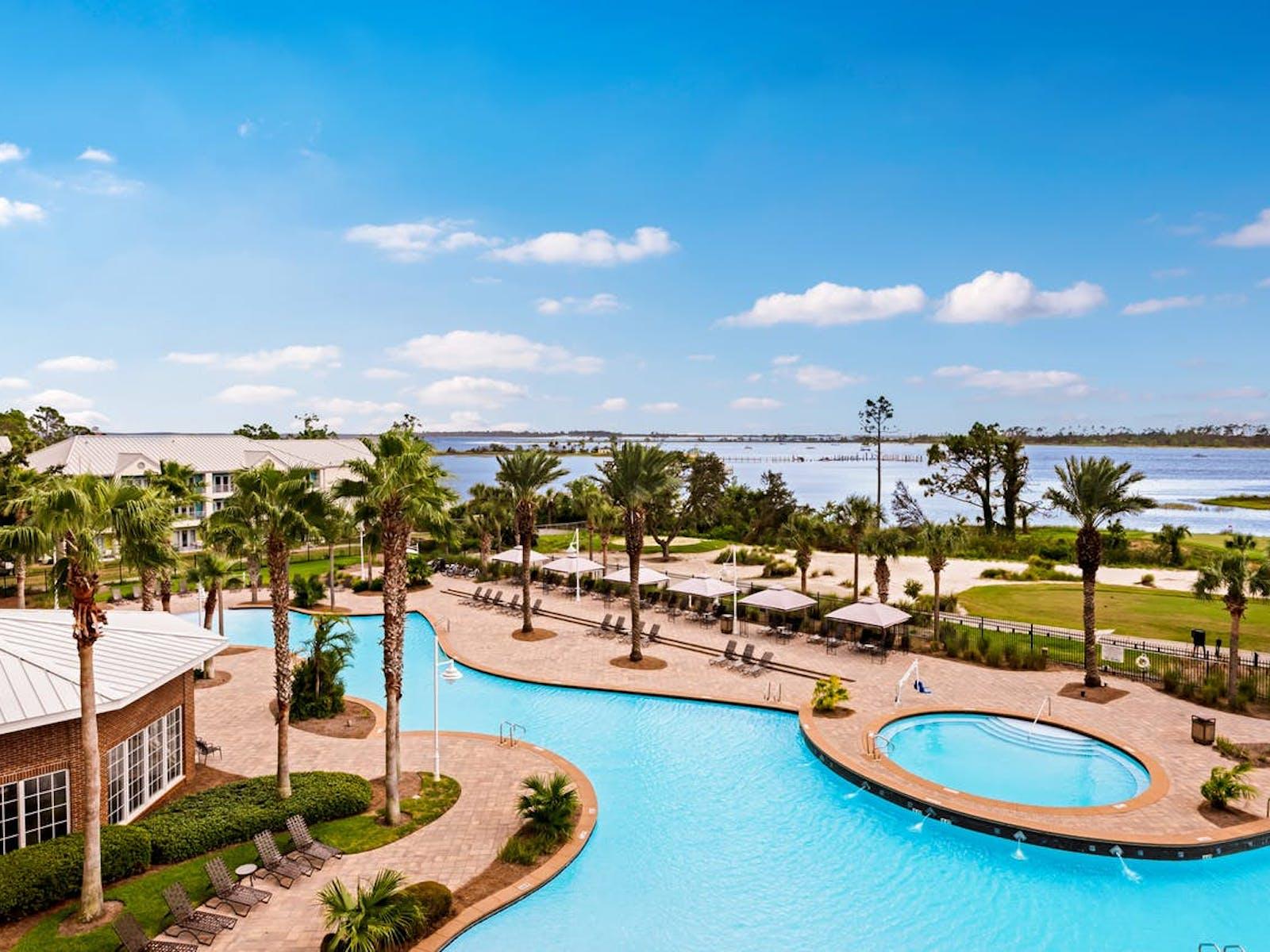 resort pool and hot tub in Florida