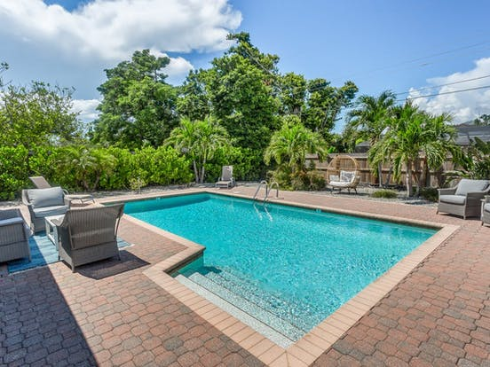 private outdoor pool in Naples, FL