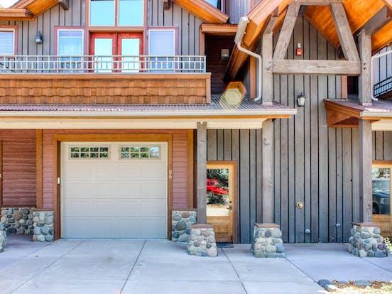 Riverfront cabin exterior in Colorado