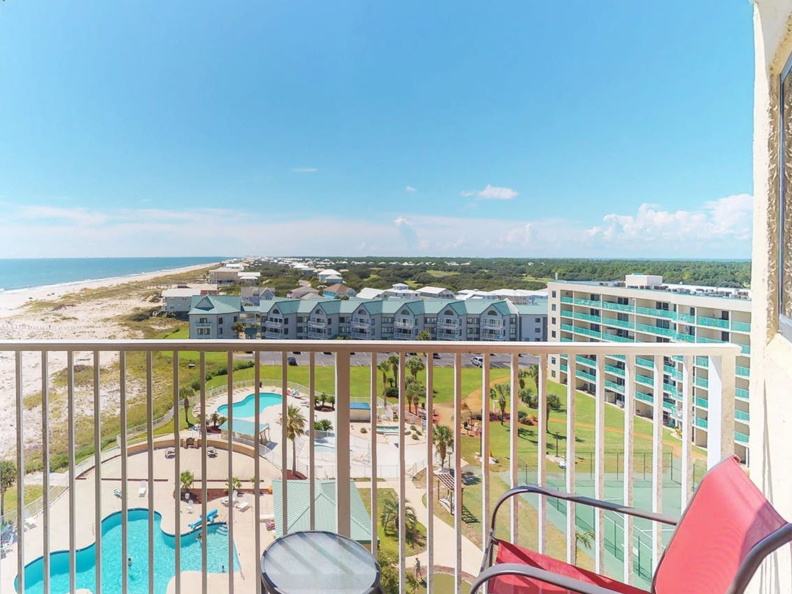 Beach and ocean views from Gulf Shores, AL vacation rental