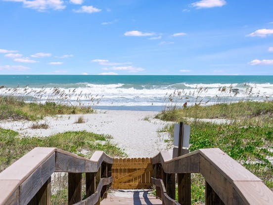 Cocoa Beach, FL walkway to beach