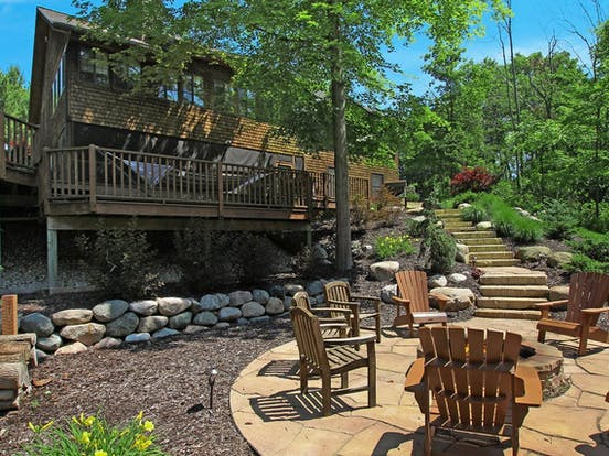 vacation rental in Michigan with firepit