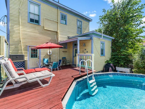 Galveston, TX vacation home with outdoor pool and patio