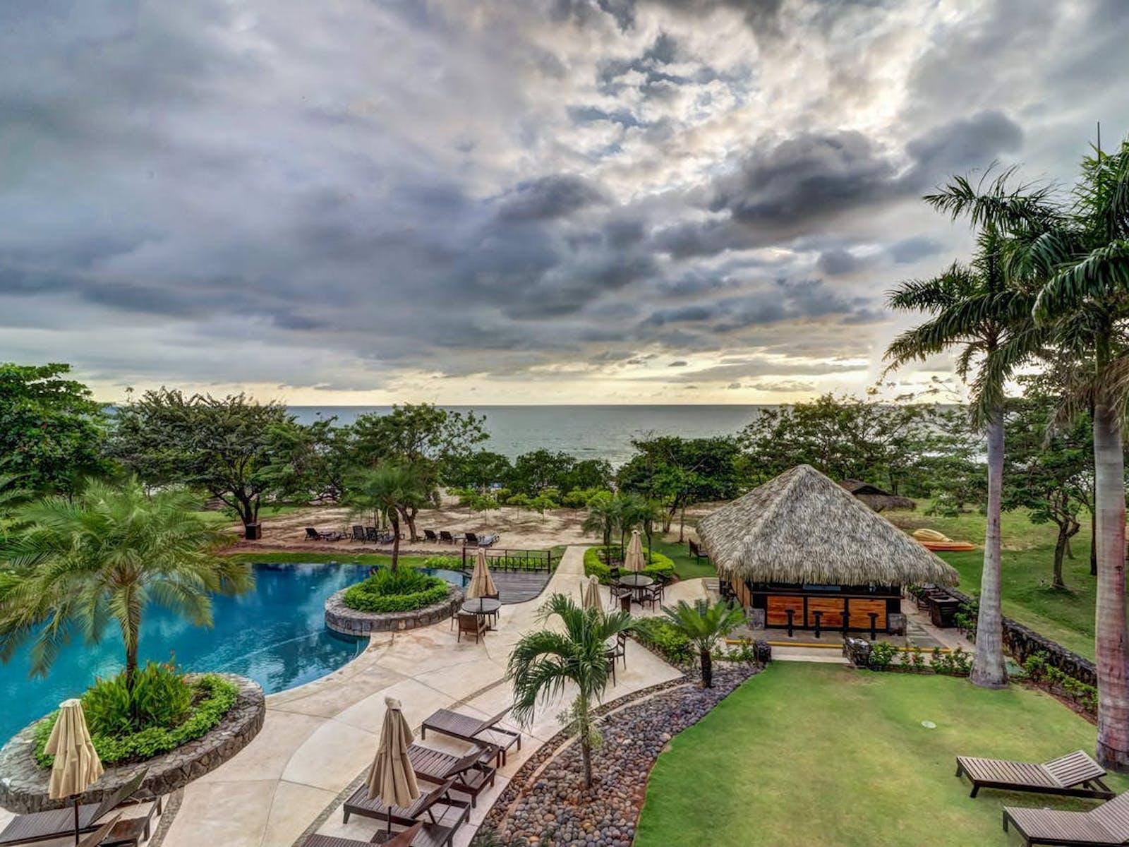 outdoor resort pool in Costa Rica