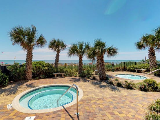 Oceanfront vacation rental with hot tub and pool in Myrtle Beach