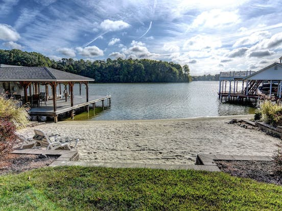 private beach area of Lake Anna vacation rental