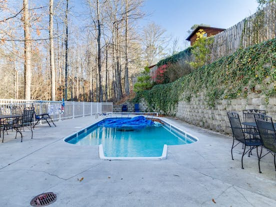 Gatlinburg, TN vacation home with a private outdoor pool