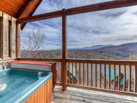 sherwood forest resort cabin rental with hot tub