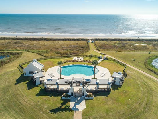 Oceanfront pool along the Texas Gulf Coast