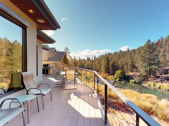 Vacation rental balcony in Bend