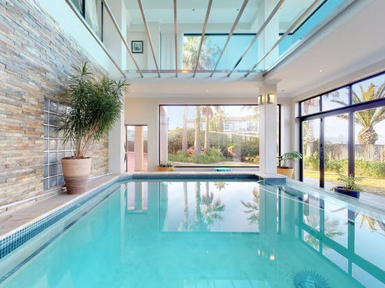 Indoor pool in Cape Town vacation rental