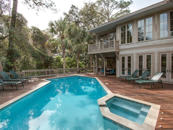 pet friendly vacation rental with outdoor pool in Sea Pines, Hilton Head