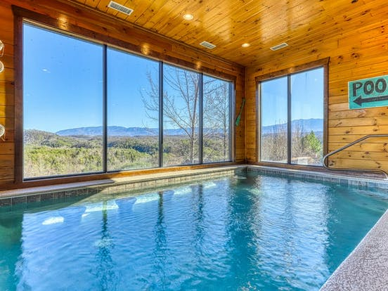 Dollywood, TN cabin rental with private indoor pool